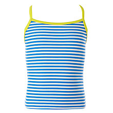 Buy John Lewis Girl Stripe Tankini Top, Navy Online at johnlewis.com