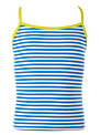 John Lewis Girl Stripe Tankini Top, Navy