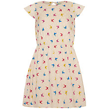 Buy Yumi Girl Repeat Butterfly Print Dress, Cream/Multi Online at johnlewis.com