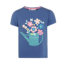 Buy John Lewis Girl Watering Can T-Shirt, Bijou Blue Online at johnlewis.com