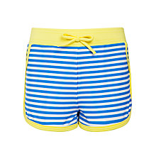 Buy John Lewis Girl Stripe Board Shorts, Blue/Yellow Online at johnlewis.com