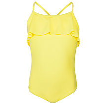 Buy John Lewis Girl Frill Detail Swimsuit, Yellow Online at johnlewis.com