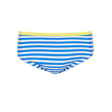 Buy John Lewis Girl Stripe Bikini Briefs, Blue/White Online at johnlewis.com