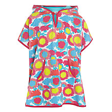 Buy John Lewis Girl Towelling Poncho, Multi Online at johnlewis.com