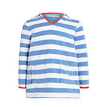 Buy John Lewis Girl Stripe Towelling Dress, Blue/White Online at johnlewis.com
