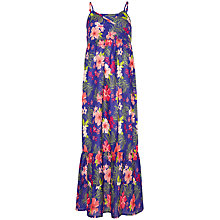 Buy Yumi Girl Tropical Print Maxi Dress, Blue/Multi Online at johnlewis.com