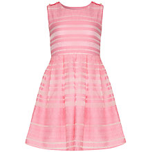 Buy Yumi Girl Textured Jacquard Dress, Pink Online at johnlewis.com
