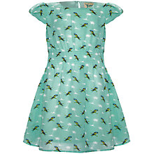 Buy Yumi Girl Parrot & Palm Tree Print Dress, Mint Green Online at johnlewis.com