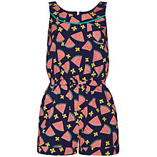 Buy Yumi Girl Watermelon Print Playsuit, Navy/Pink Online at johnlewis.com