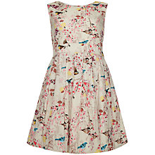 Buy Yumi Girl Easter Bird Print Dress, Beige/Multi Online at johnlewis.com