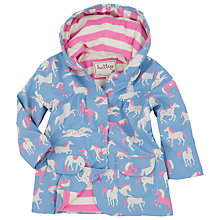 Buy Hatley Girls' Classic Horses Raincoat, Blue Online at johnlewis.com