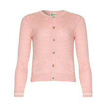 Buy Yumi Girl Lurex Cardigan, Pink Online at johnlewis.com