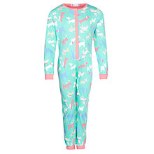 Buy John Lewis Girl Dog Onesie, Green/Multi Online at johnlewis.com