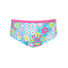 Buy John Lewis Girl Flowerbox Bikini Briefs, Blue/Multi Online at johnlewis.com