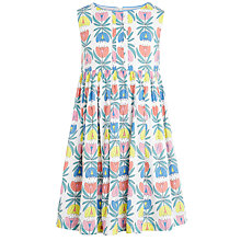 Buy John Lewis Girl Floral Print Smock Dress, Multi Online at johnlewis.com