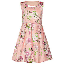 Buy Yumi Girl Heart Cut-Out Floral Dress, Blue/Multi Online at johnlewis.com