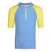 Buy John Lewis Girl Stripe Rash Vest, Blue/White Online at johnlewis.com