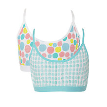 Buy Kin by John Lewis Girls' Spot Print Crop Top, Pack of 2, Multi Online at johnlewis.com