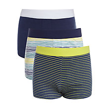Buy Kin by John Lewis Boys' Stripe Trunks, Pack of 3, Blue Online at johnlewis.com