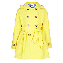 Buy John Lewis Girl Trench Coat, Yellow Online at johnlewis.com
