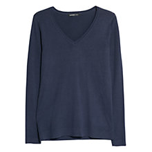 Buy Mango V-Neck Sweatshirt, Dark Blue Online at johnlewis.com