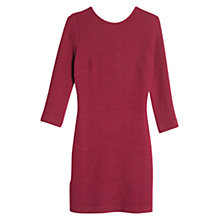 Buy Mango Scoop-Back Bodycon Dress, Dark Purple Online at johnlewis.com