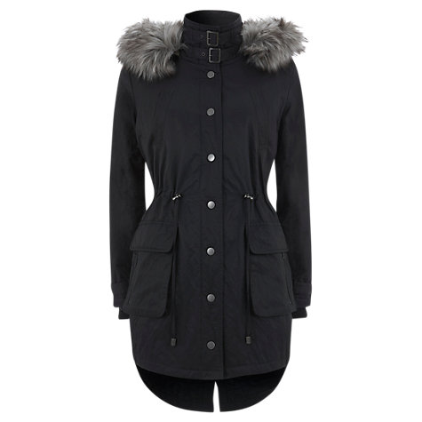 Buy Mint Velvet Fur Padded Parka Online at johnlewis.com