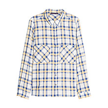 Buy Violeta by Mango Check Print Shirt, Dark Blue Online at johnlewis.com