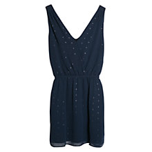 Buy Mango Metallic Detail Dress, Medium Blue Online at johnlewis.com