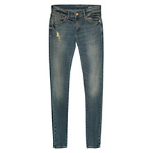 Buy Mango Skinny Arizona Jeans, Navy Online at johnlewis.com