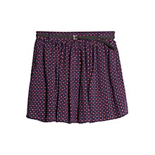 Buy Mango Belted Print Skirt, Navy Online at johnlewis.com