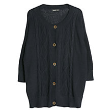 Buy Violeta by Mango Cable Knit Cotton Cardigan, Navy Online at johnlewis.com