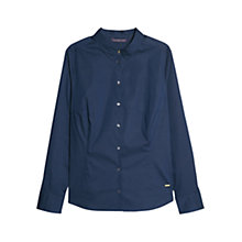 Buy Violeta by Mango Cotton-Blend Shirt, Navy Online at johnlewis.com