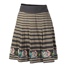 Buy Fat Face Pleat Rose Border Skirt, Phantom Online at johnlewis.com