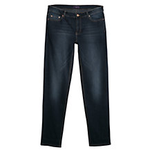 Buy Violeta by Mango Straight Fit Ely Jeans, Navy Online at johnlewis.com