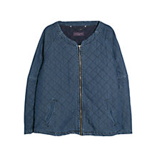 Buy Violeta by Mango Quilted Denim Jacket, Navy Online at johnlewis.com