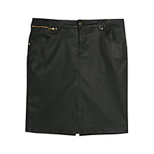 Buy Violeta by Mango Coated Skirt, Black Online at johnlewis.com