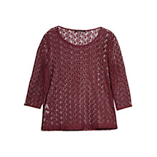 Buy Mango Lace Blouse, Dark Red Online at johnlewis.com