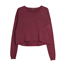 Buy Mango Cropped Jumper, Dark Red Online at johnlewis.com