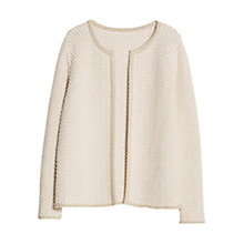 Buy Violeta by Mango Metallic Thread Jacket, Natural White Online at johnlewis.com