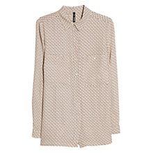 Buy Mango Chest Pocket Shirt, Natural White Online at johnlewis.com