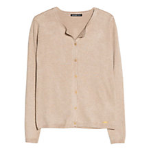 Buy Mango Round Neck Cardigan, Light Pastel Brown Online at johnlewis.com