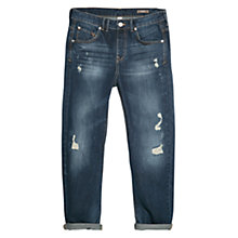 Buy Mango Boyfriend Angie Jeans, Navy Online at johnlewis.com