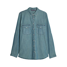 Buy Violeta by Mango Denim Shirt, Blue Online at johnlewis.com