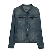 Buy Violeta by Mango Washed Denim Jacket, Blue Online at johnlewis.com
