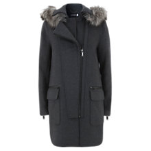 Buy Mint Velvet Biker Coat, Grey Online at johnlewis.com