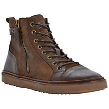 Buy Bertie Collins Zip Detail High Top Trainer Boots, Brown Online at johnlewis.com