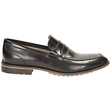 Buy Clarks Gatley Step Leather Shoes, Black Online at johnlewis.com