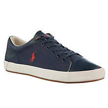Buy Polo Ralph Lauren Jerom Trainers, Marine Blue Online at johnlewis.com