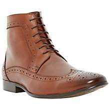 Buy Dune Minister Brogue Boots. Tan Online at johnlewis.com